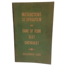 1937 Chevrolet passenger car manual