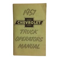 1957 Chevrolet truck operator's manual