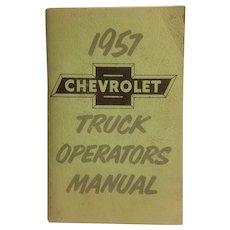 1957 Chevrolet truck operator's manual