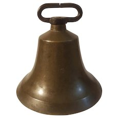19th Century large brass cow bell