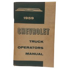 1959 Chevrolet truck operator's manual