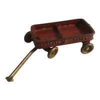 Small cast iron Express Flyer wagon