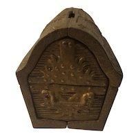1970 John Wright cast iron treasure chest bank