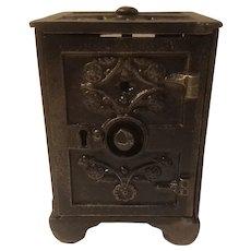 Cast iron safe bank