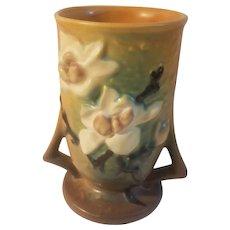 Set of 2 roseville magnolia vases