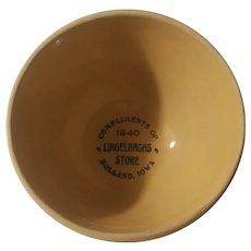 Holland Iowa advertising bowl