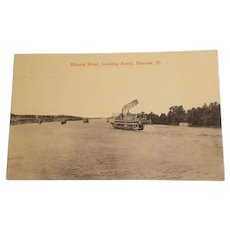 Real photo postcard, Illinois river scene