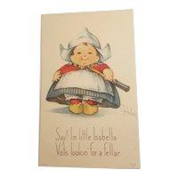 Dutch girl postcard signed c. Twelvetrees