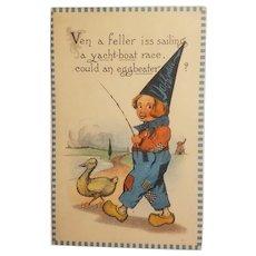 Barton and Spooner dutch boy postcard