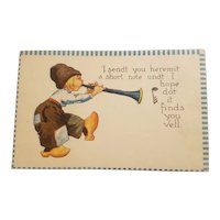 Barton & spooner Dutch boy postcard