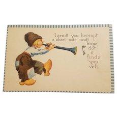 Barton & spooner Dutch boy postcard