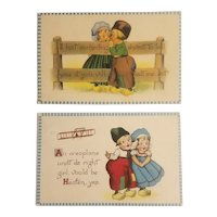 2 Barton and Spooner Dutch children postcards