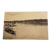 Real photo postcard of Quiver Beach, Havana, ILL