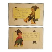 Barton & spooner Dutch boy postcards
