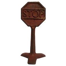 Arcade cast iron stop sign
