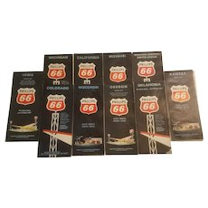 10 1960's Phillips 66 road maps