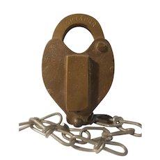CRI & P railroad brass padlock