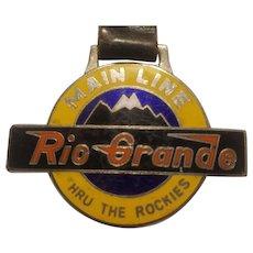 Modern Rio Grande Railroad watch fob