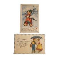 2 Dutch themed postcards