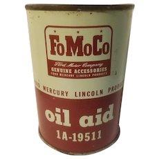 FoMoCo  oil aid can