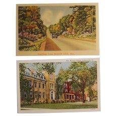 2 Illinois scenic postcards
