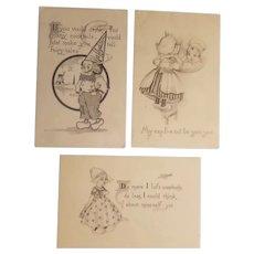 3 Dutch themed postcards