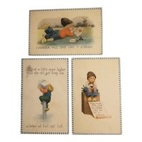 3 Dutch themed postcards one with panama Pacific expo stamp