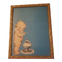 Rose O'Neill kewpie with ice cream print