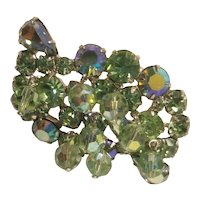 Weiss signed Aurora borealis brooch