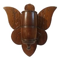 Butterfly form wooden match safe