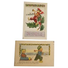 Dutch themed Christmas postcards
