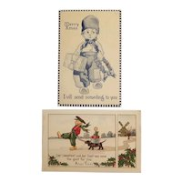 Dutch themed Christmas postcards