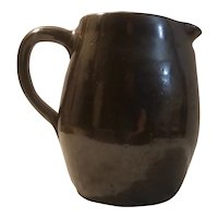 Handmade stoneware pitcher dated 1912