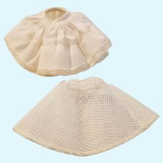 Doll petticoat and under skirt
