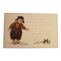 Dutch themed New year's postcard