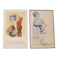 Dutch themed new year's postcards