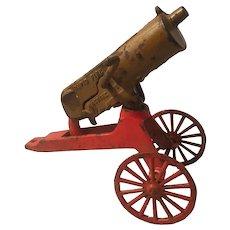 Cast iron anti-aircraft machine gun cap gun
