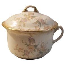 Ironstone transferware chamber pot