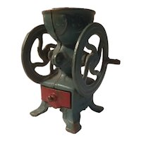 Cast iron toy coffee grinder