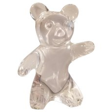 Daum France crystal glass bear