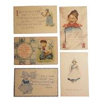 5 Dutch themed postcards