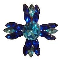 2 tone acrylic gem Brooch