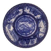 Jamestown expo cobalt blue transfer plate