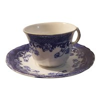 Flo blue conco pattern cup and saucer