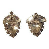 Pair of rhinestone clip earrings