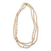 Set of 3 simulated pearl necklaces