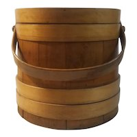 Firkin, wooden sugar bucket