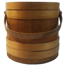 Firkin, wooden sugar bucket