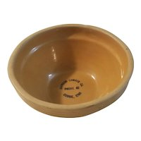 Western stone ware Gowrie Iowa advertising bowl
