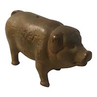 Decker's Iowana advertising cast iron bank